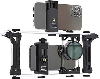 DREAMGRIP Evolution 2020 PRO Universal Modular Transformable Rig System für jedes Smartphone, Action und DSLR Kameras. Renewed Basic Phone Video Kit für Vlogging, Youtuber, Journalisten, Movie Maker