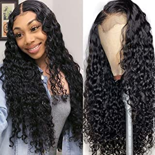 ISEE Hair 150% Density Brazilian Deep Wave Lace Front Wig Glueless Lace Front Human Hair Wigs For Black Women Pre Plucked Unprocessed 8A Virgin Brazilian Hair Wig (22''13x4 Lace Front Wig)