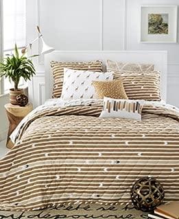Martha Stewart Collection Whim Straight Arrow Full/queen Quilt Bedding Tan Stripe