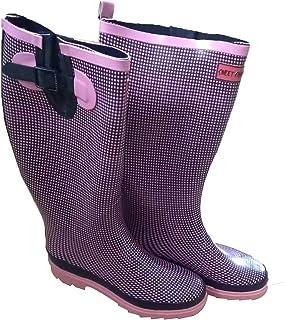 Bottes en caoutchouc Rose/Noir carreaux imperméable rain Boots Sweet Chilli