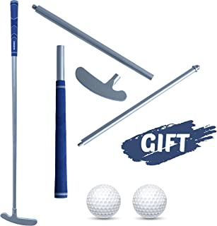 Running Raccoon Golf Practice Putter with Anti Slip Rubber Grip, Adults Putt Putt Two Way Detachable Putter with Stainless Steel Clubhead, 35 Inch Graphite Shaft for Right or Left Handed Golfers