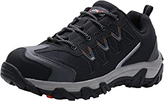 LARNMERN Steel Toe Shoes Men, Safety Work Reflective Strip Puncture Proof Footwear Industrial & Construction Shoe