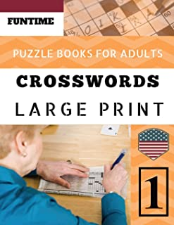 Crossword puzzle books for adults: Funtime Crosswords Easy Magic Quiz Books Game for Adults   Large Print: 1