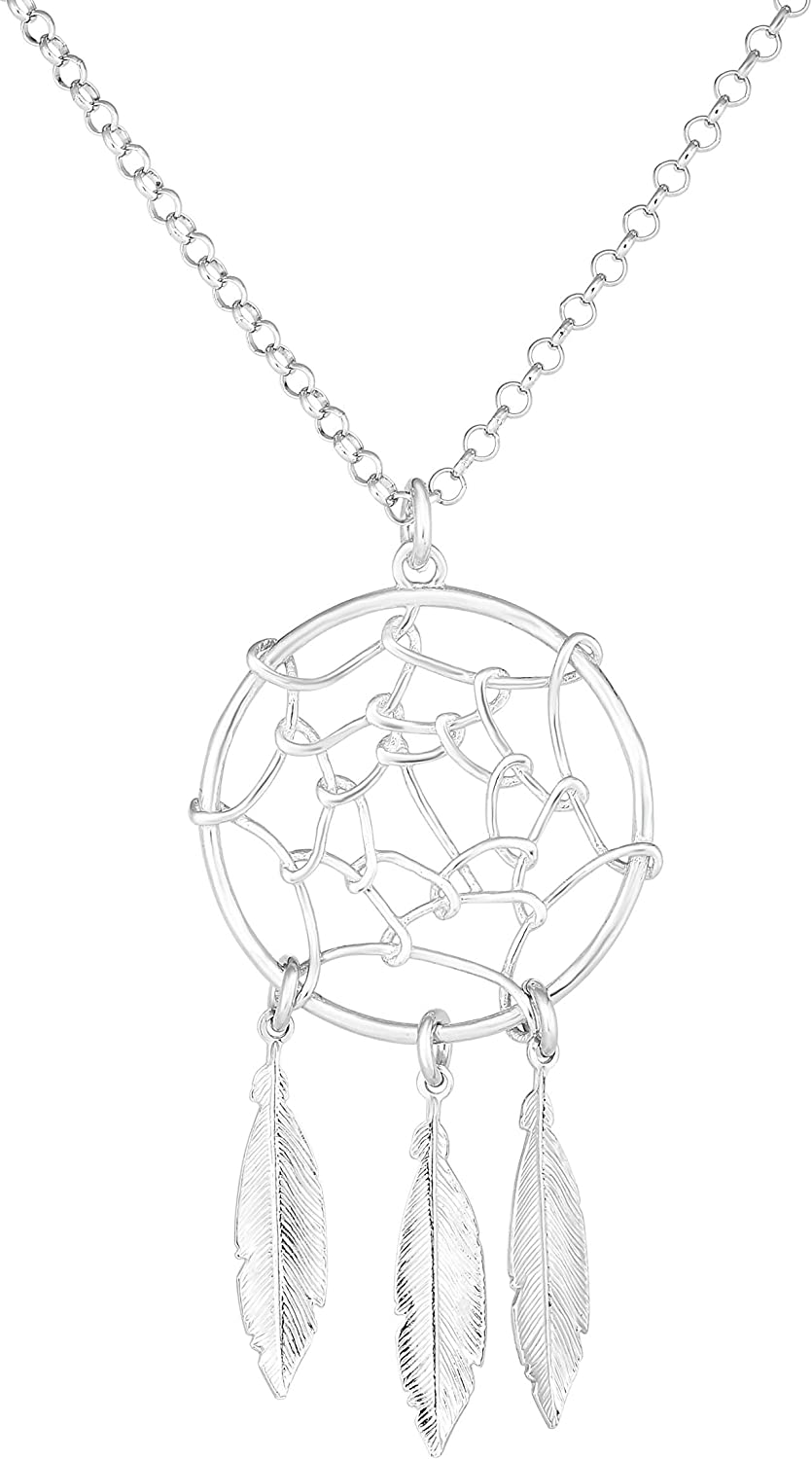 Fresno Mall Ranking TOP1 Sterling Silver Dream Catcher Necklace Charm 17