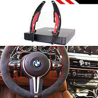 Real Carbon Fiber Steering Wheel Paddle Shifter Extension DSG Fit for BMW M2 M3 M4 M5 M6 X5M X6M