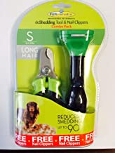Furminator deShedding Tool for Dogs - Short, Medium or Long Hair with Free Nail Clipper for Dogs & Cats