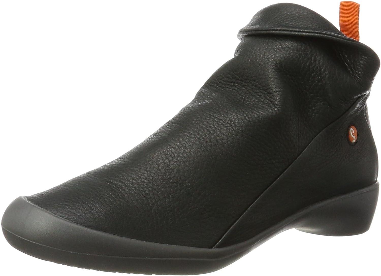 Softinos Womens Farah Leather Boots Black