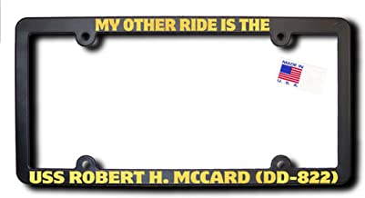 My Other Ride USS ROBERT H. MCCARD (DD-822) License Frame w/REFLECTIVE GOLD TEXT