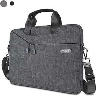 15.6 Inch Laptop Bag,Slim Shoulder Bag for Men&Women,laptop sleeve Case with Strap and Handle Compatible Dell,HP,Asus,Acer,MacBook Pro,Lenovo(Gray)