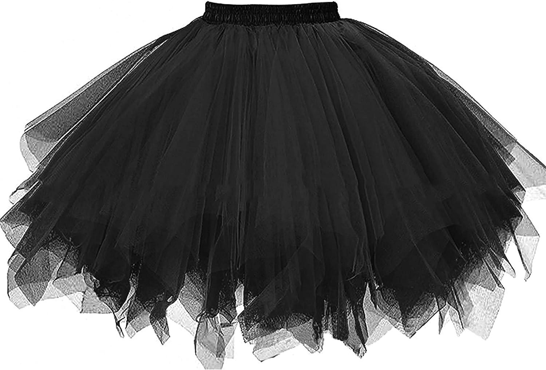 Ayliss Women's Tutu Skirt 1950s Short Vintage Petticoats Bubble