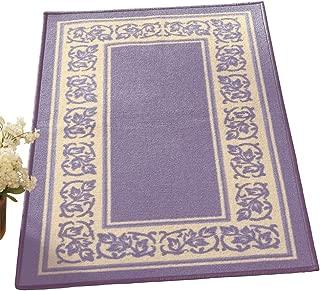 Collections Etc Floral Border Skid-Resistant Accent Rug, Lavender, 26
