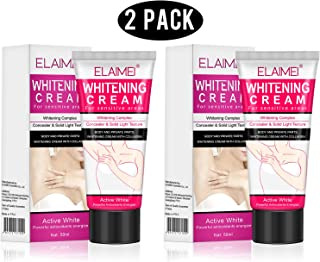 ELAIMEI Natural Whitening cream for dark skin (2 pack), underarm Whitening cream, body creams, private nipple whitening pinkish cream.