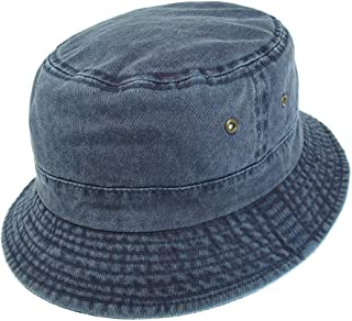 8639d2a3 Village Hats Packable Cotton Bucket Hat - Navy