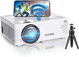 Mini Proyector,VicTsing Proyector Wifi Full HD con Bluetooth,5000 Lúmenes 1080P,Mini Proyector Portátil,Compatible con iPh...