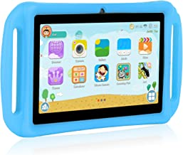 Xgody T702 7 Inch Android Kids Tablet PC for Kids Quad Core Android 8.1 1GB RAM 16GB ROM Touch Screen with WiFi Pre-Loaded 3D Game Dual Camera Blue