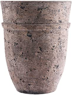 Little Green House Brown Ceramic Decorative Vase - Large