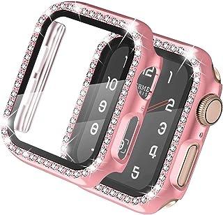 ZAALFC Funda de Vidrio + para la Serie de Relojes de Apple 6 5 4 3 2 Se 44mm 40 mm para Protector de Pantalla de Parachoqu...