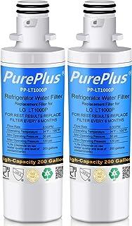 PUREPLUS MDJ64844601 Refrigerator Water Filter, Compatible with LG LT1000P, LT1000, LT1000PC, 9980, ADQ747935, ADQ74793501, ADQ74793502, LMXS30796S, LMXC23796S, LFXS30796D, LFXC24796D, 46-9980, 2-Pack