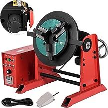 Mophorn 30KG 220V Rotary Welding Positioner Turntable Table 0-90º Welding Positioner Positioning Turntable 15RPM 310mm Dia Welder Positioner Turntable Machine Equipment
