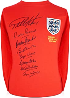 England 1966 World Cup Winning Team Signed Soccer Jersey   Autographed Football Memorabilia