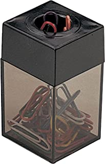 OIC(R) Magnetic Clip Dispenser, Small, 100 Clip Capacity, Black/Smoke