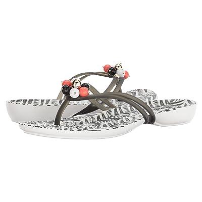 Crocs Drew x Crocs Isabella Flip (Black/White) Women