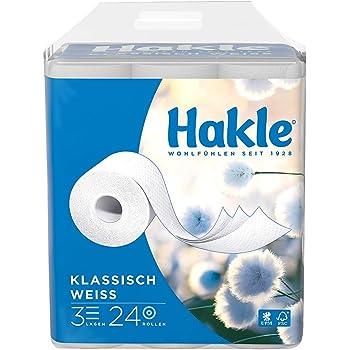 """Hakle Toilettenpapier """"Klassisch Weiß"""" 3-lagig, 1er Pack (1 x 24 Stück)"""