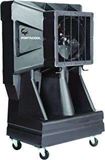 Portacool PAC163SVT 16-Inch Portable Evaporative Cooler with Vertical Tank, 3900 CFM, 900 Square Foot Cooling Capacity, Black