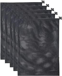 GHHJX 5 Pack Mesh Stuff Sack Nylon Mesh Gym Bag Multi Purpose Bag with Drawstring Lock Closure for Golf Tennis Ball and Beach Toys,14.2