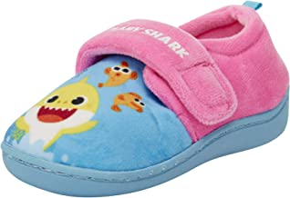 Nickelodeon Toddler Girls' Slippers - Baby Shark Plush House Shoes