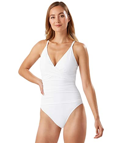 Tommy Bahama Pearl Over the Shoulder Cross Front One-Piece (White) Women