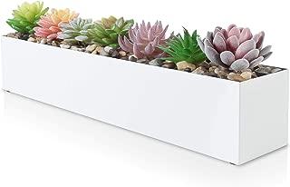 Modern White Rectangle Planter Box | 16