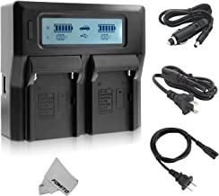 Dual LCD Display Digital Battery Charger for Sony NP-F550 NP-F570 NP-F750 NP-F770 NP-F950 NP-F970