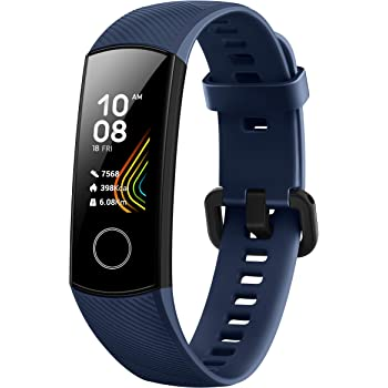 Honor Band 5 Fitness Tracker, Monitoraggio SpO2, Battito Cardiaco 24/7 e Sonno, Display Touch AMOLED 0.95 Pollici, Schermo Curvo da 2.5D, Midnight Navy