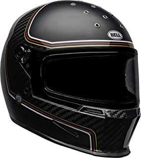 Bell Eliminator Carbon Street Motorcycle Helmet (RSD The Charge Matte/Gloss Black, Large)