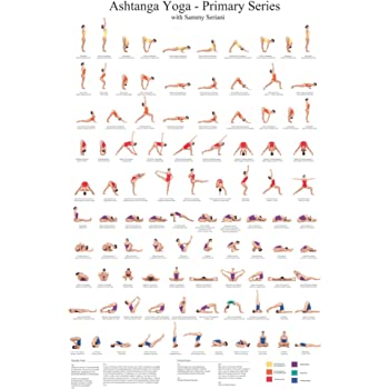 Amazon Com Ashtanga Primary Series Practice Chart Yoga Poses Poster 24x36 Inch Sequence Of Asanas Essential Yoga Chart Cool Eclectic Colorful Wall Decor Infographic Art Print Prints Posters Prints