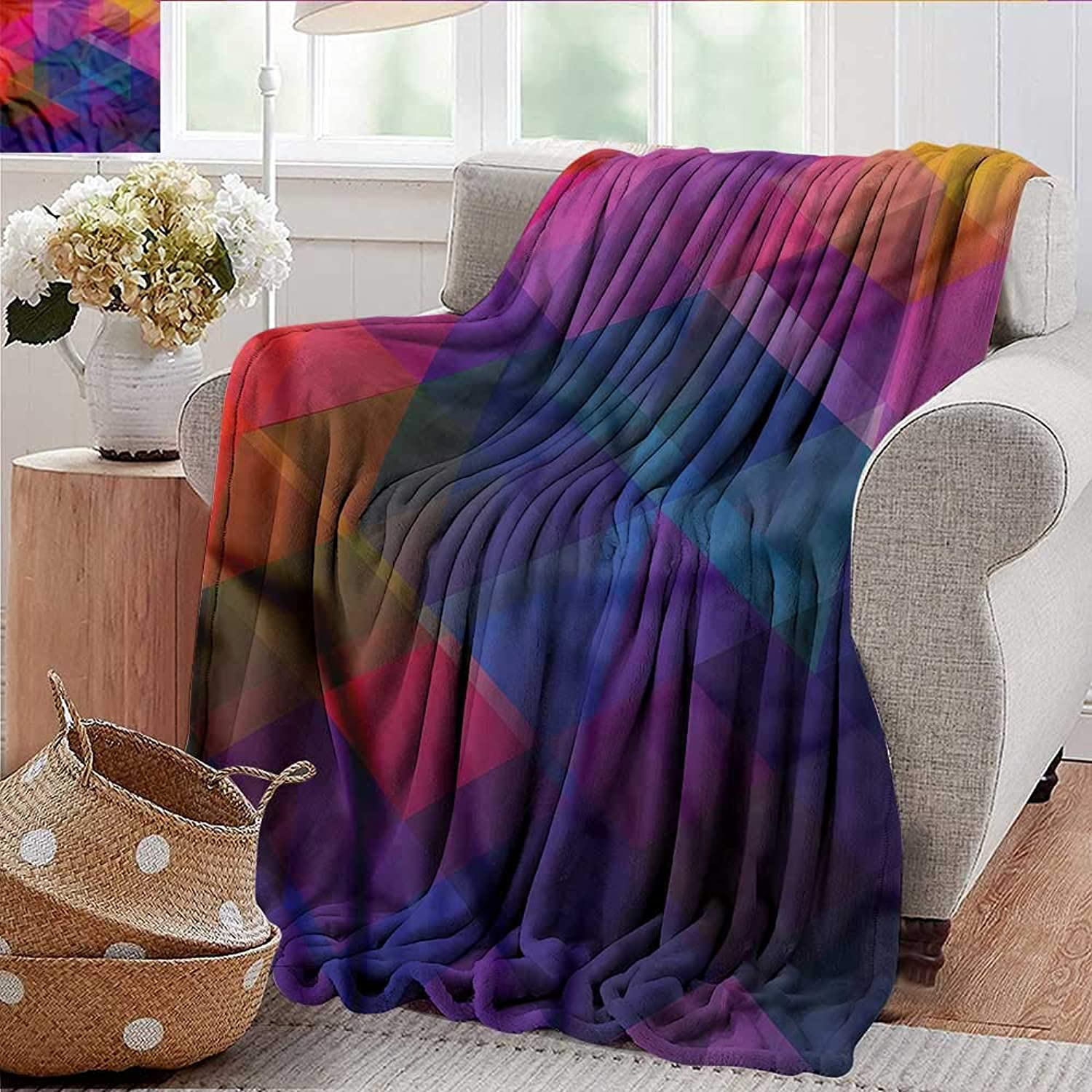 Xaviera Doherty Summer Blanket Abstract Triangle,Polygonal Modern Weighted Blanket for Adults Kids, Better Deeper Sleep 35 x60