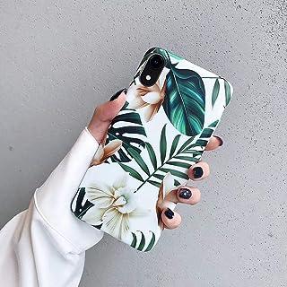 JAWSEU Funda Compatible con iPhone XR Ultra Slim Brillo Carcasa con Bonita Dibujo Flores Diseño Suave Silicona Gel TPU Goma Bumper Transparente Antigolpes Protectora Funda Cubierta-1