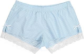 iixpin Men's Lace Trim Boxer Briefs Cute Bowknot Panties Sissy Crossdress Lingerie Underpants