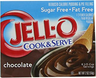 JELL-O Chocolate Sugar Free Cook & Serve Pudding & Pie Filling Mix (2 oz Boxes, Pack of 24)