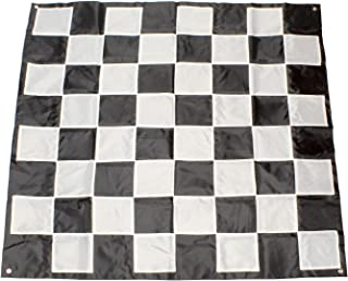 Get Out! Giant Chess Board Outdoor Games for Family – 5 x 5ft Plastic Chess & Checkers Rug – Chess & Checkers Mat
