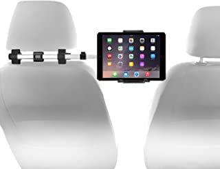 "Macally Car Headrest Mount Holder for Apple iPad Pro/Air/Mini, Tablets, Nintendo Switch, iPhone, Smartphones 4.5"" to 10"" Wide with Dual Adjustable Positions and 360° Rotation (HRMOUNTPRO)"