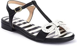 Lola Ramona: Penny Wicked - Black Leather Sandal for Women
