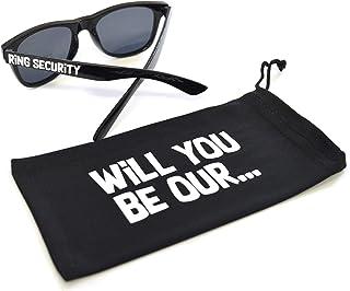 Ring Bearer Sunglasses, Ring Security Kids Sunglasses, Ring Bearer Proposal Bag