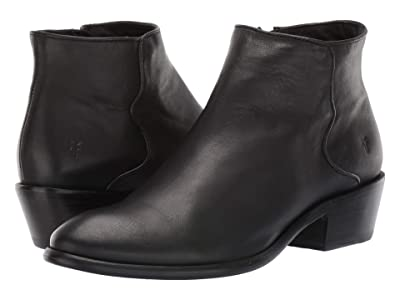 Frye Carson Piping Bootie (Black Soft Full Grain) Women