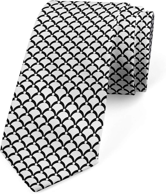Lunarable Necktie, Fish Scale Pattern, Dress Tie, 3.7
