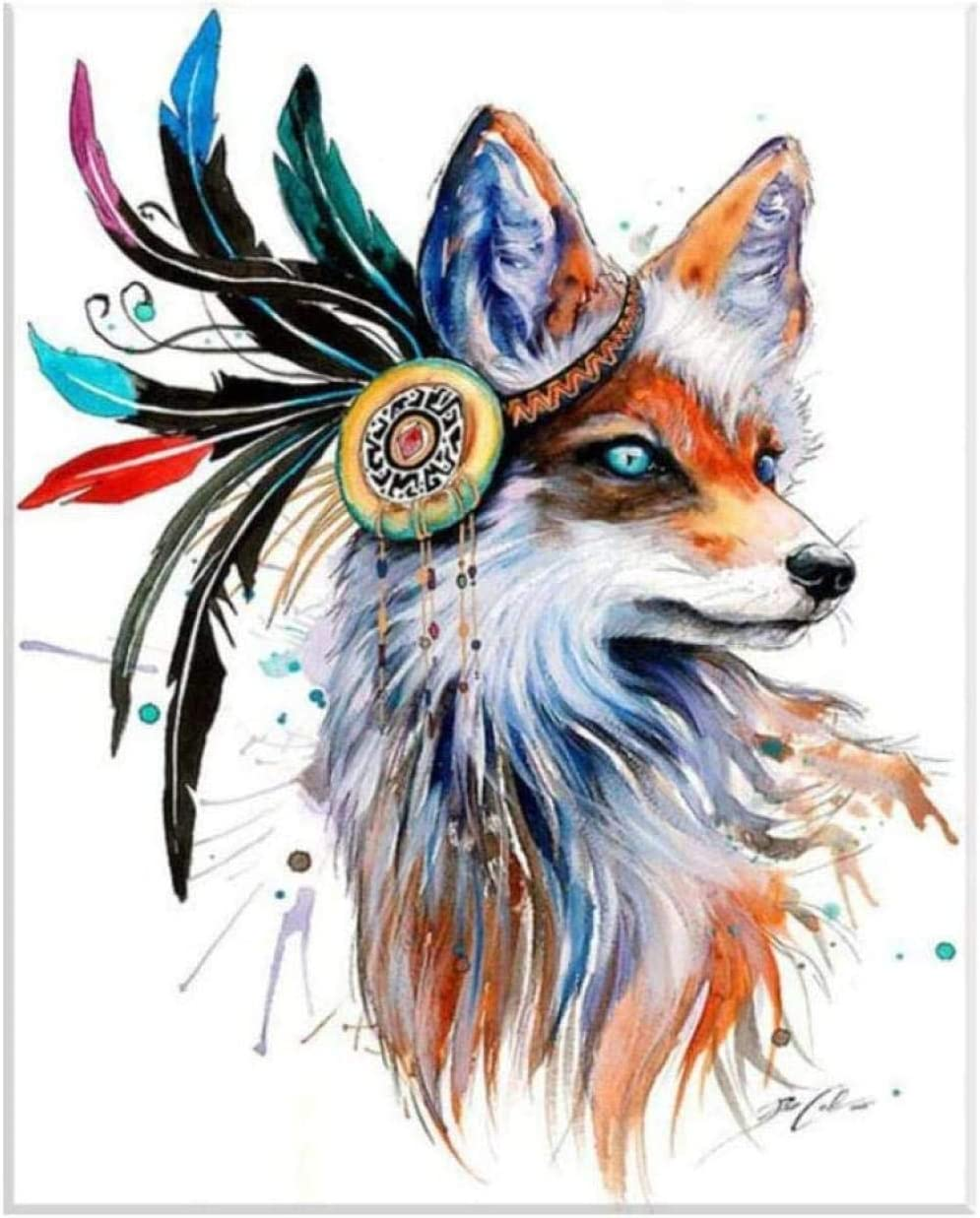 DIY Special Campaign 5D Diamond Indefinitely Painting Fox Kit Colorful Animal