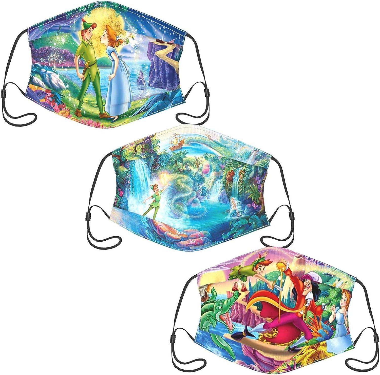 Rugrats Adult Cloth Face Mask,Face Masks Reusable Washable Adjustable 3 Pack for Man Woman Balaclava