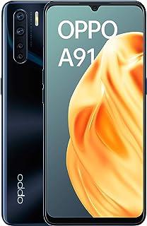 """OPPO A91 – Smartphone de 6.4 """" AMOLED, 8GB, 128GB, Octa-core, cámara trasera 48 + 8 + 2 + 2 MP, cámara frontal 16 MP, 4.000 mAh, Android 9, Negro"""
