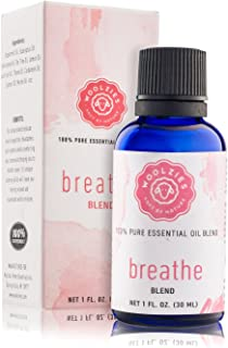 WoolziesBreathe Essential Oil Cold Stopper Blend for Cold, Cough, Congestion, Sinus Relief, Allergy, Headache, Aromatherapy, Scents & Diffuser